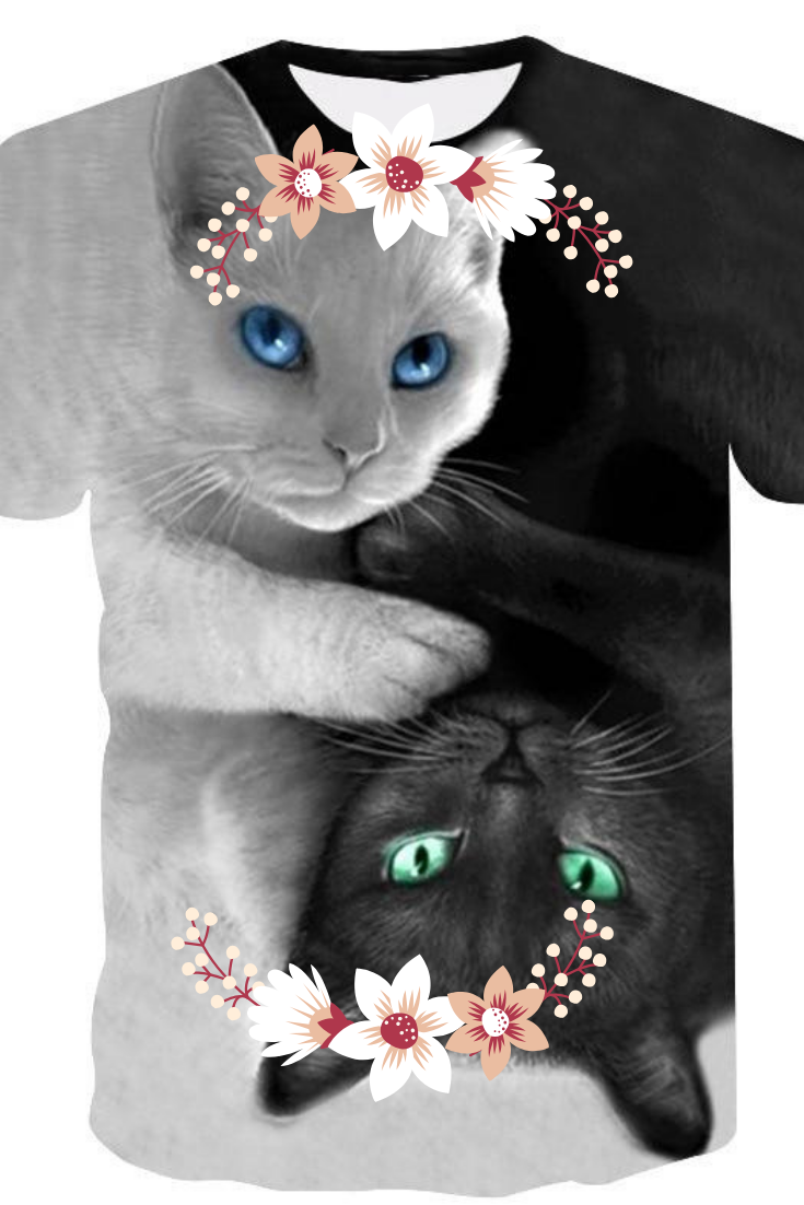 Smart people choose Cat. Grab this cute 3D Cat Shirt that