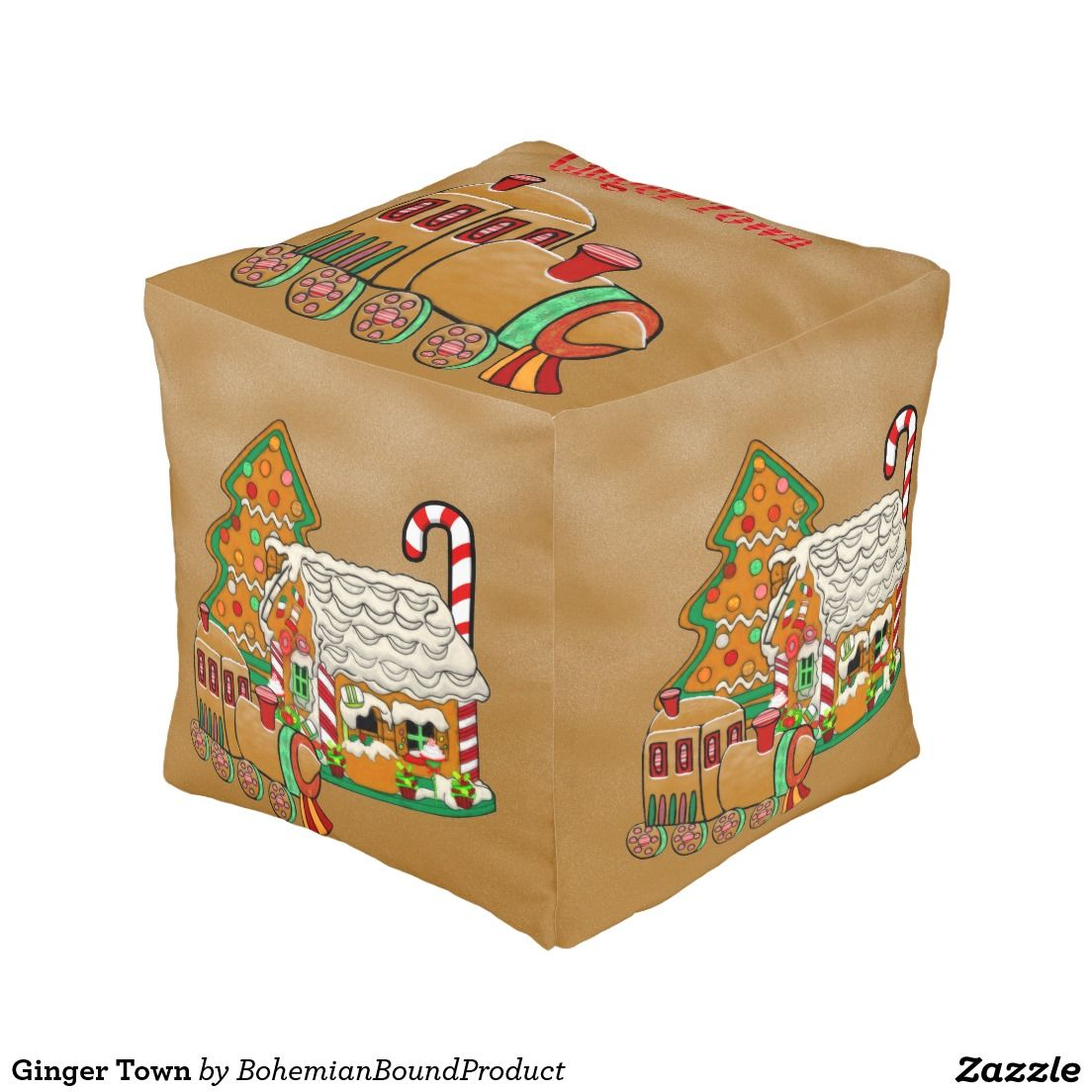 Ginger Town Cube Pouf
