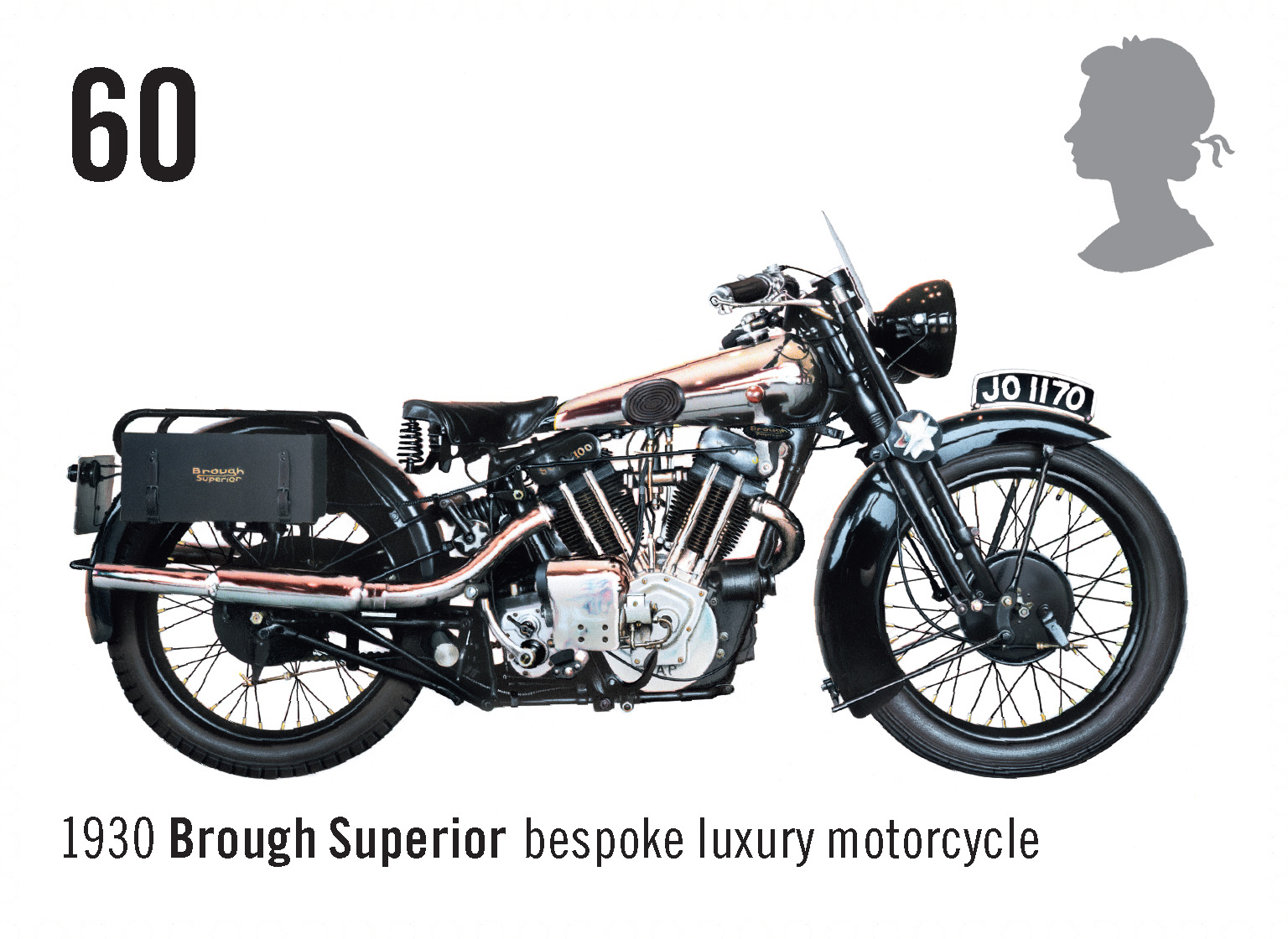 Brough Superior Bespoke Luxury Motorcycle (1930) #SpecialStamp from 2005 'Motorcycles'