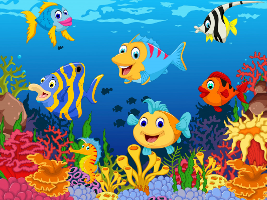 Funny Fish Jigsaw Puzzle In Under The Sea Puzzles On Thejigsawpuzzles Com Art Drawings For Kids Turtle Painting Fishing Humor