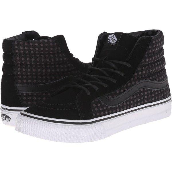 Unisex Shoes Vans SK8-Hi Slim (Wool Dots) Black/True White