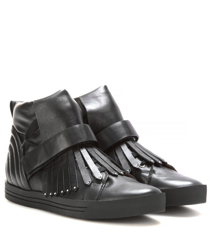 d5463bc8e587a Marc Jacobs - Leather high-top sneakers - Build your daytime look ...