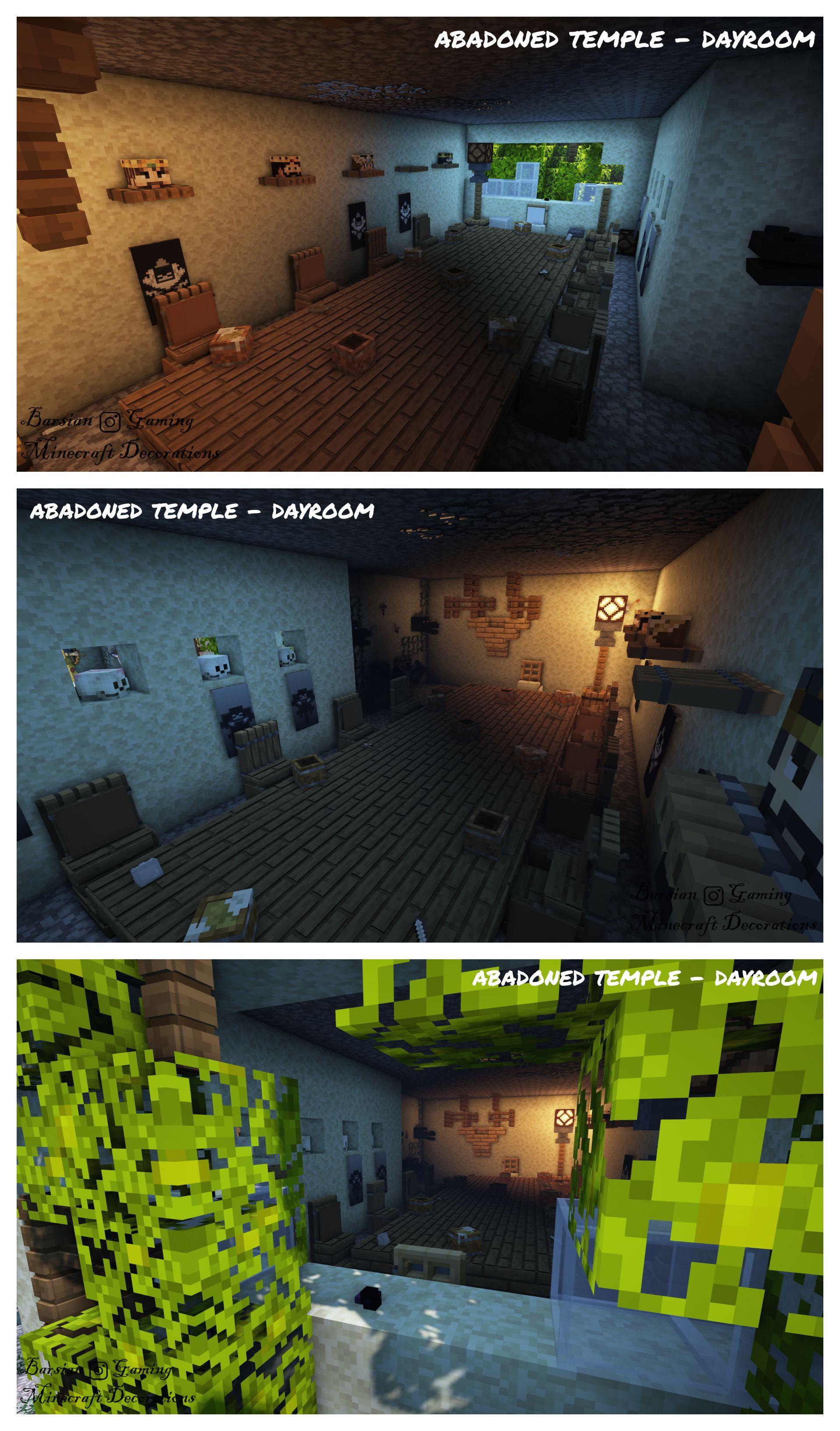Abadoned Temple Dayroom Minecraft Designs Minecraft Architecture Minecraft