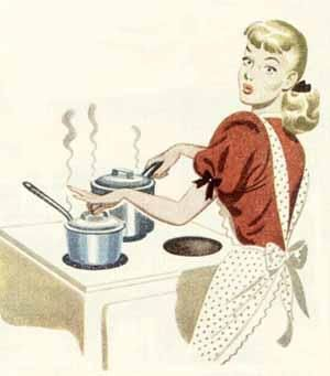 Image result for vintage woman cooking