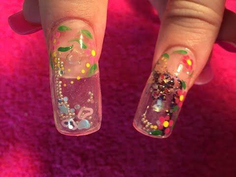 Acrylic Nails How To Aquarium Nail Aquarium Nails Bubble Nails Aqua Nails