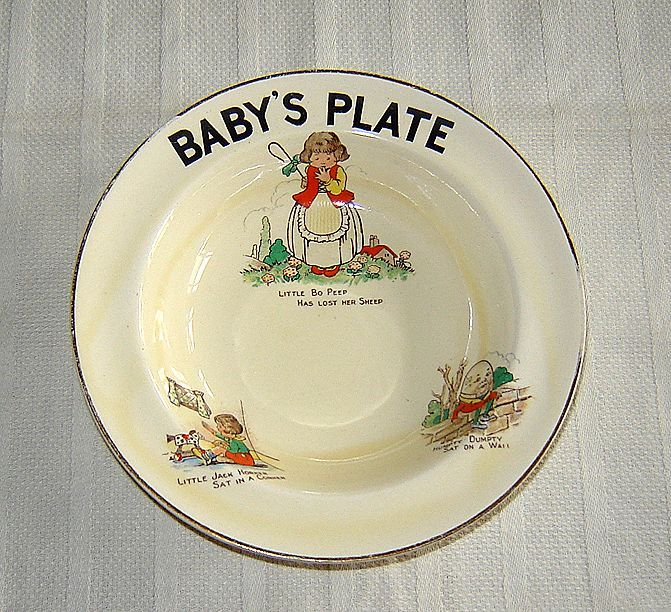 English Pottery Childu0027s Bowl with Nursery Rhymes & English Pottery Childu0027s Bowl with Nursery Rhymes | Vintage and ...
