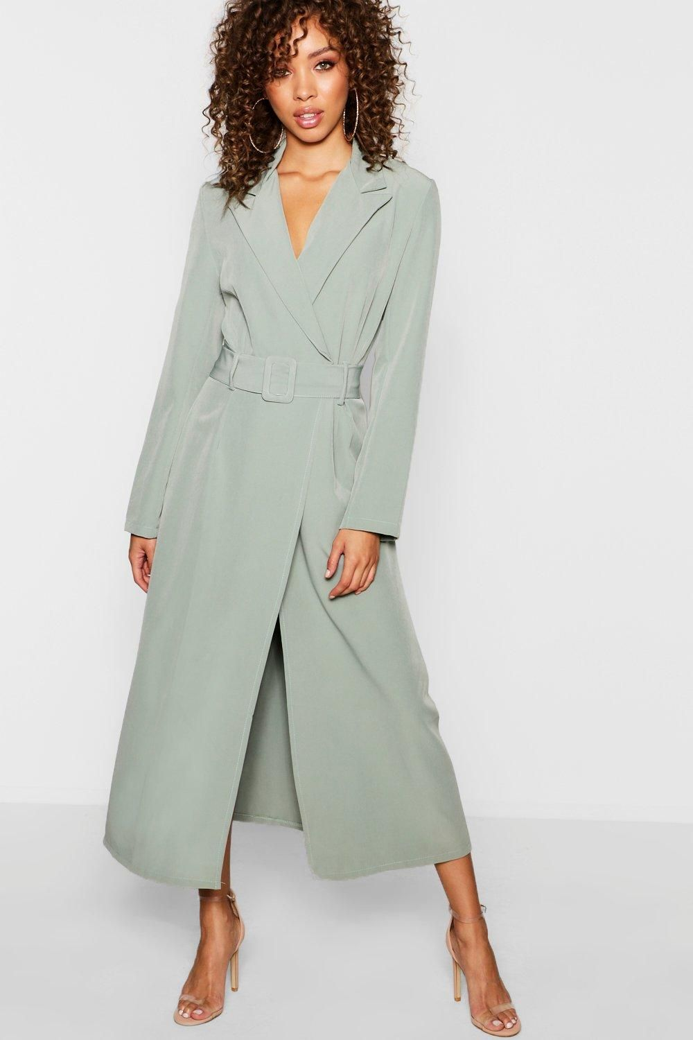86df0bd190b Covered Belt Maxi Blazer Dress