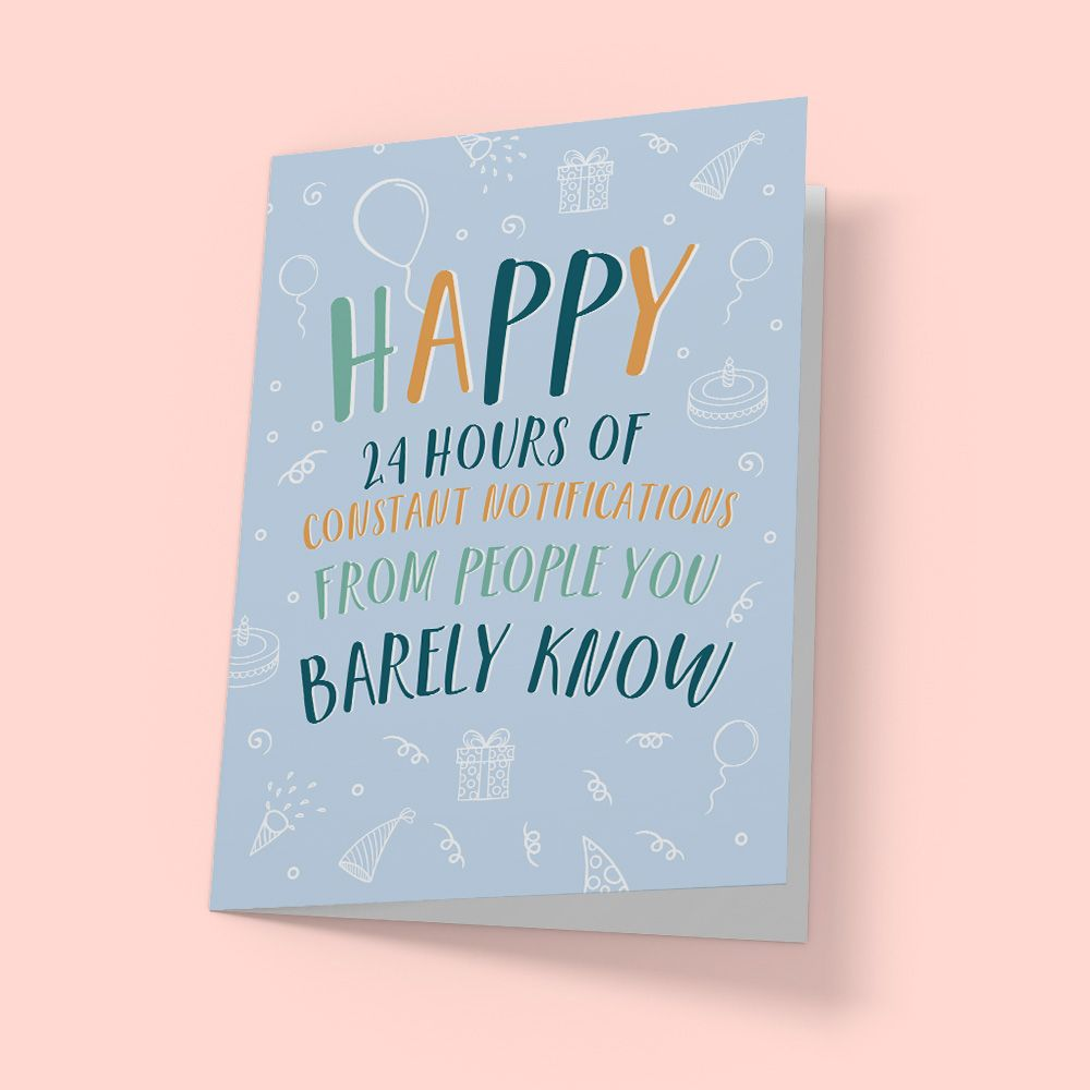 Funny Facebook Birthday Card Funny Birthday Cards Funny Facebook