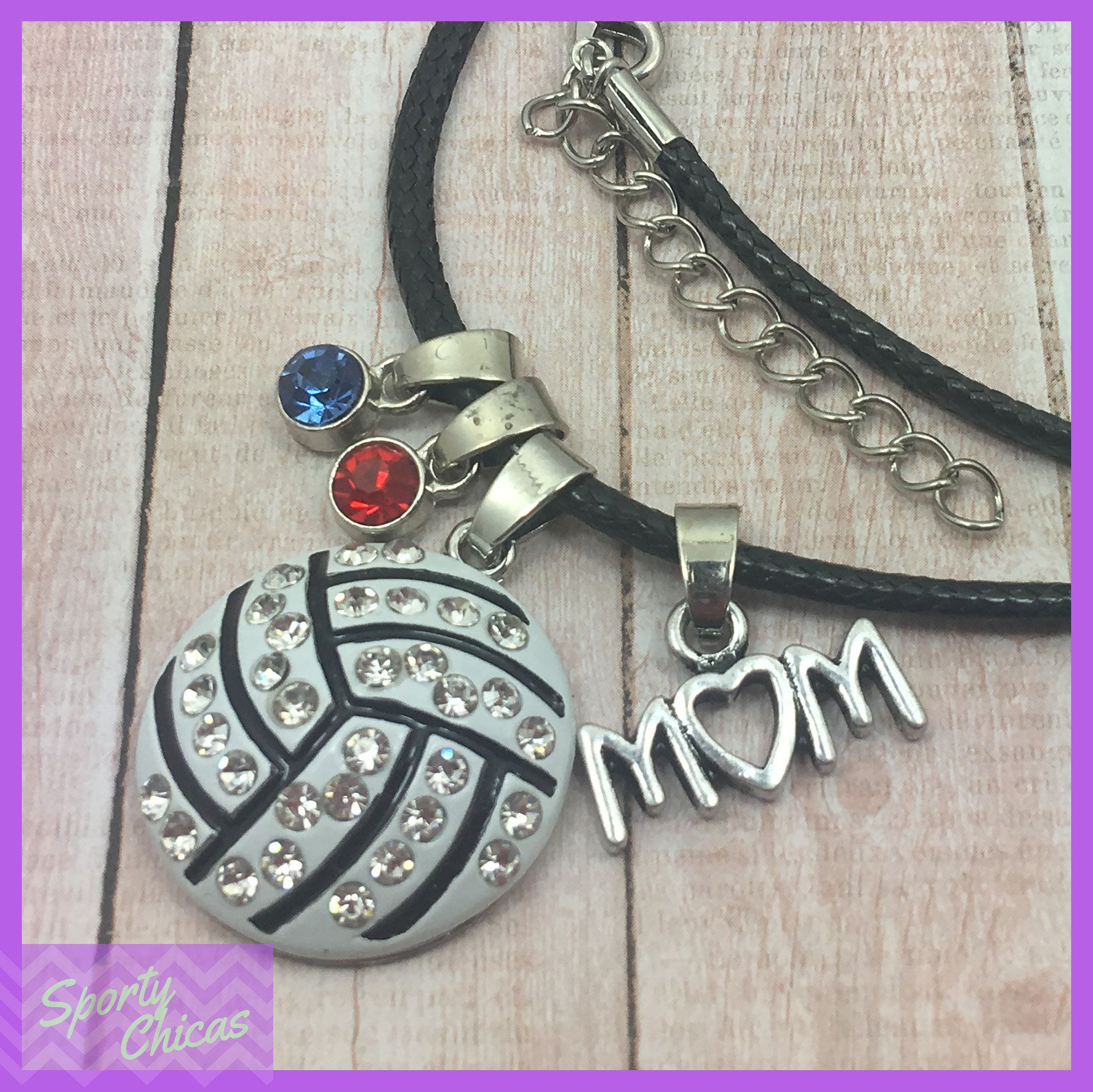 Volleyball Mom Personalized Volleyball Gift Team Mom Gift Birthstone Necklace Volleyball Necklace Mother S Day Gift End Of Season Team Mom Gifts Personalized Mom Volleyball Gifts