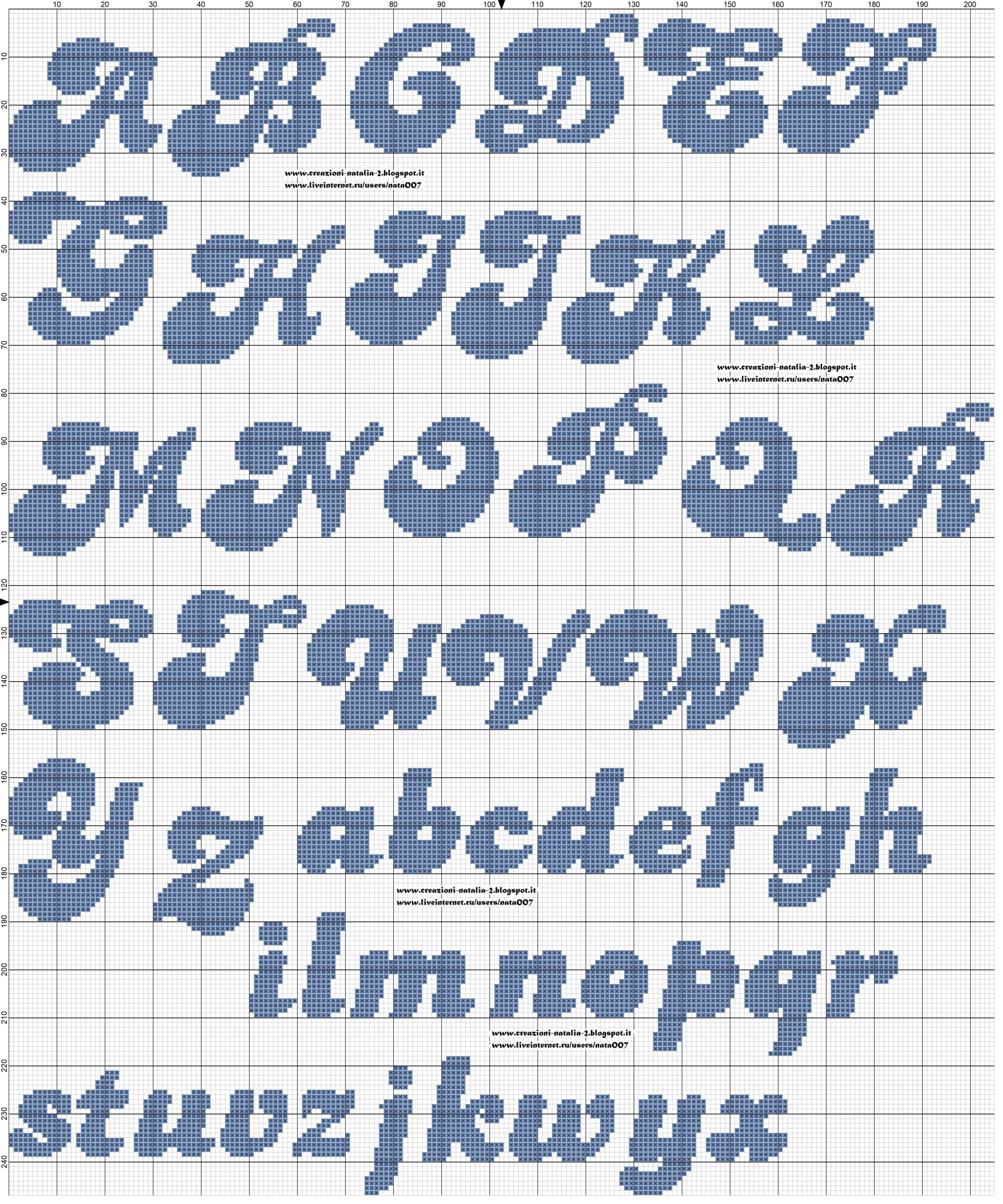 Schemi natalia natalia the fiber things in for Punto croce schemi alfabeto