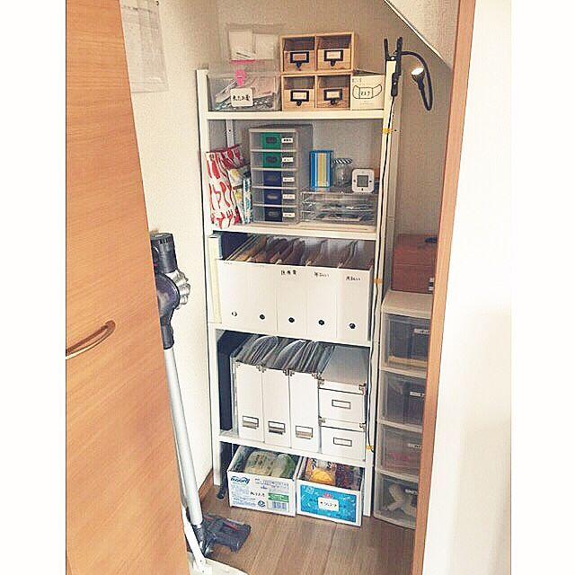 eab14fb2d82 My Shelf/IKEA/スチールラック/ニトリ/階段下収納/リビング収納...などのインテリア実例 - 2016-04-04 02:36:52 |  RoomClip (ルームクリップ)