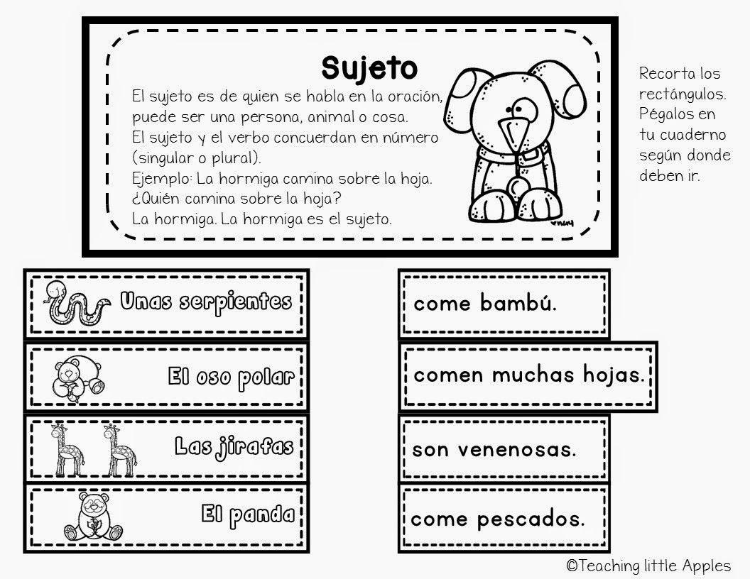 Sujetos, part of grammar pack | actividades | Pinterest | Español ...