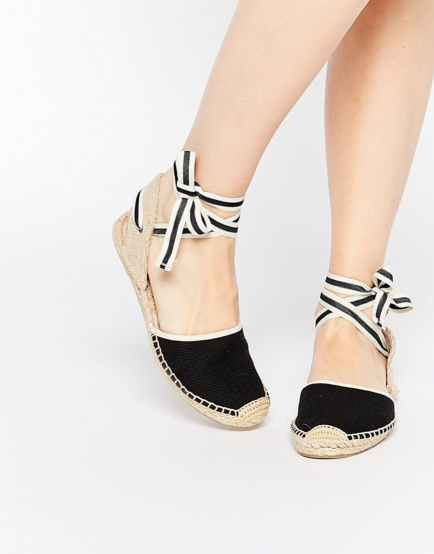 1fcb6aad86a Image 1 of Soludos Classic Woven Black Tie Up Espadrille Flat Sandals