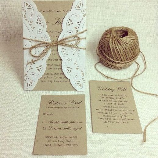 Carta per partecipazioni nozze fai da te