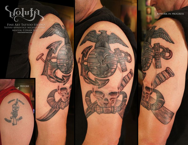 Marine Corps Rework Tattoo