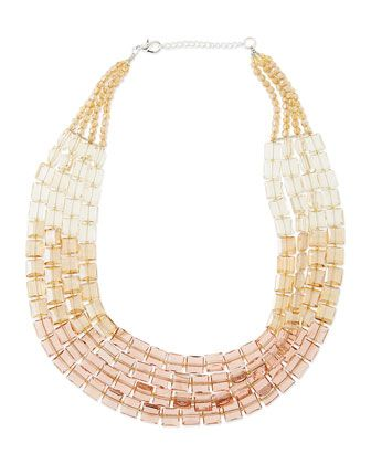Multi-Strand+Ombre+Crystal+Necklace+by+Panacea+at+Neiman+Marcus.