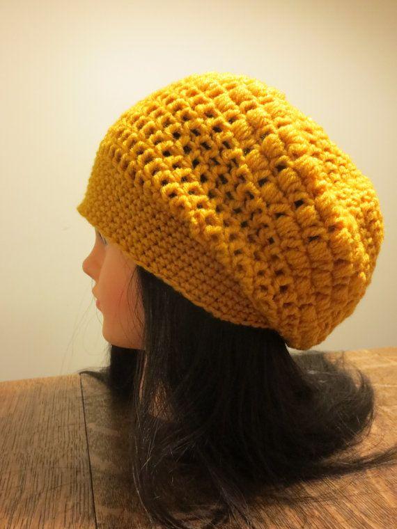 eb1e821308b Mustard Yellow Slouchy Beanie Hat