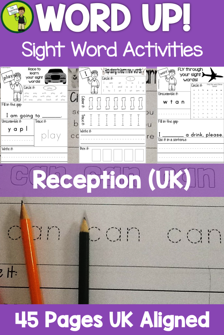 High Frequency Sight Word Activity Sheets Practice for