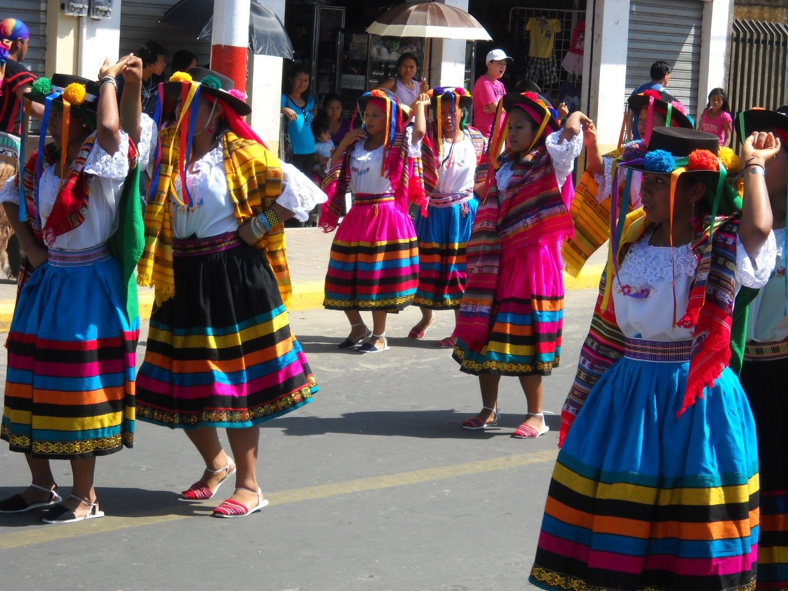 The Chonta Festivals And Styles Of Traditional Dress In Ecuador