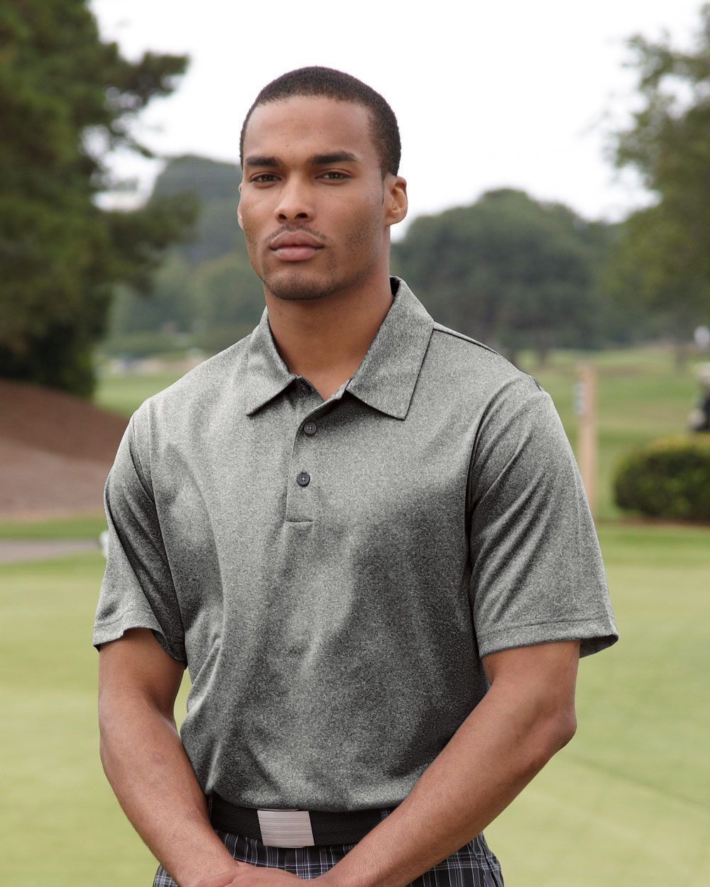 Adidas Golf Climalite Heathered Polo A163 Products Adidas