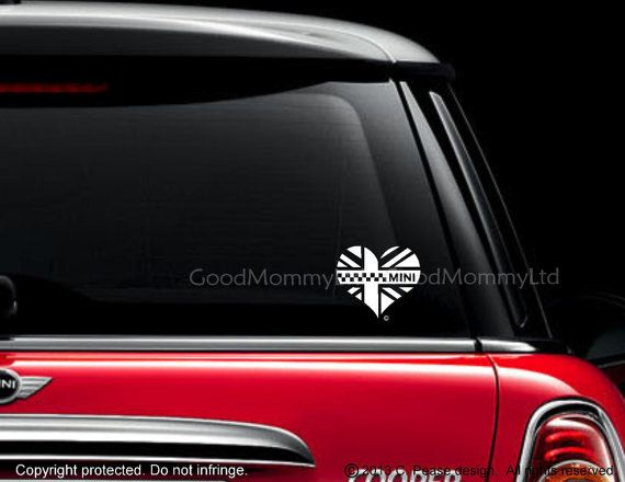 Iconic Mini Heart Decal For Your Mini Cooper Car Decals Stickers Van Wall Vinyl
