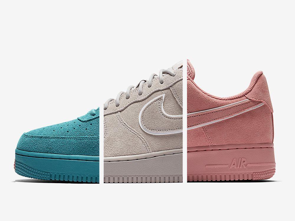 Nike Air Force 1 Low Suede Pack Z Trzema Kolorystykami Sneakers Sneakers Nike Und Shoes