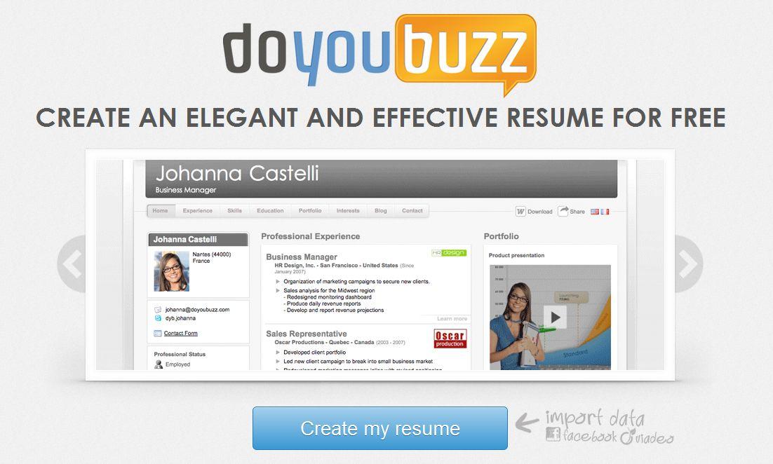 doyoubuzz-blog-hostalia-hostingjpg Empleo Pinterest - online resume creator