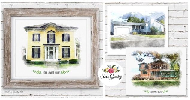 Watercolor House Portrait Art Print Only $17.99 - http://www.swaggrabber.com/?p=309175