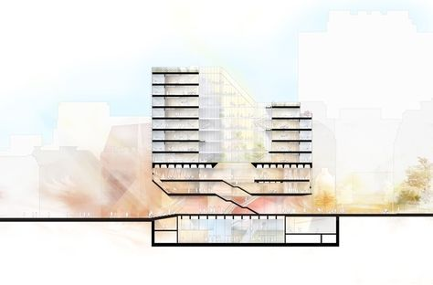 LSE Reveals 6 Schemes for its Paul Marshall Building,Team A. Image Courtesy of RIBA