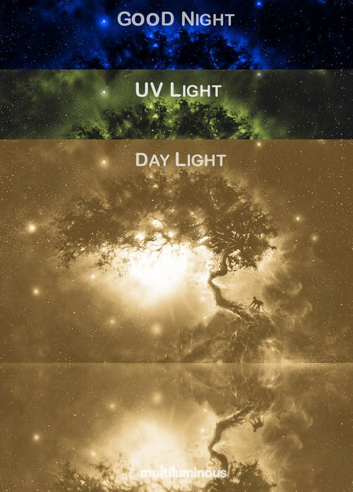 Bogi Fabian Multiluminous Glow In The Dark Print Universe Space