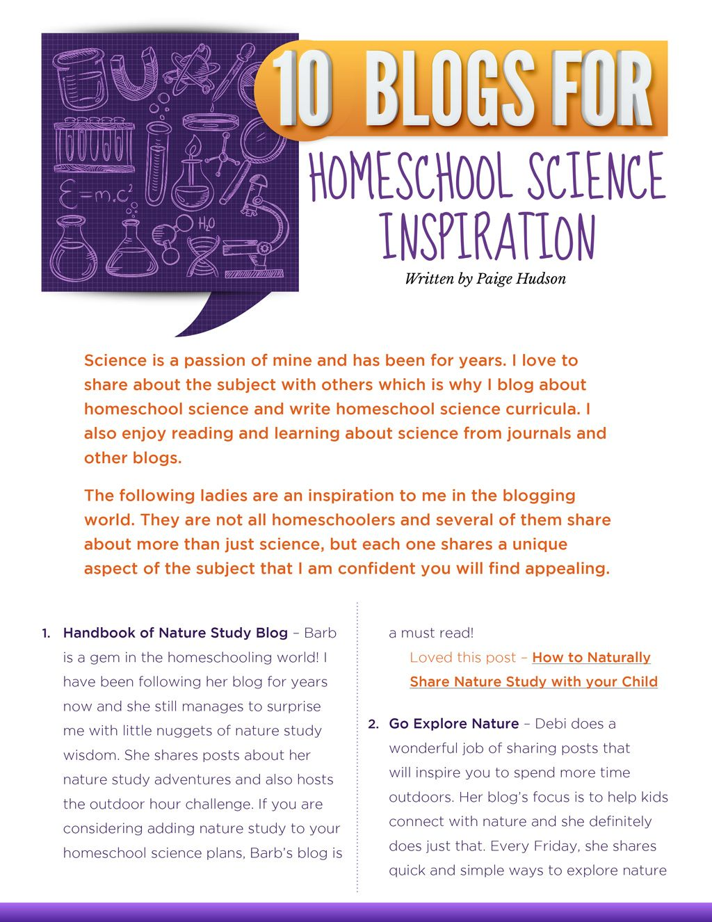 10 Blogs For Homeschool Science Inspiration