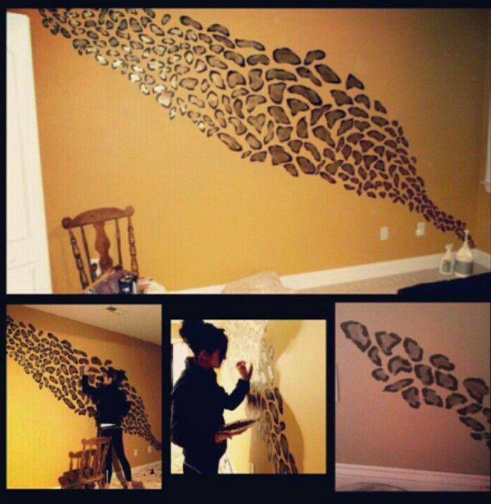Cheetah print wall   DIY   Pinterest   Cheetah print walls ...