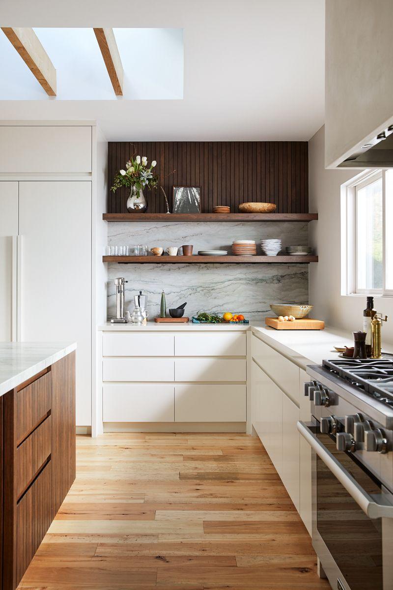 Mill Valley Scandinavian Modern Open Kitchen With Skylight