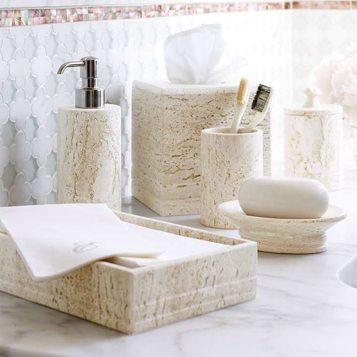 Travertine Bath Accessories Bath Accessories Bathroom