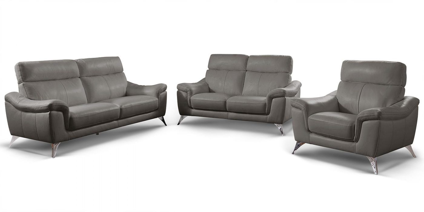 3 2 1 Sitzer Ledergarnitur Stella Bequemes Sofa Leder Sessel
