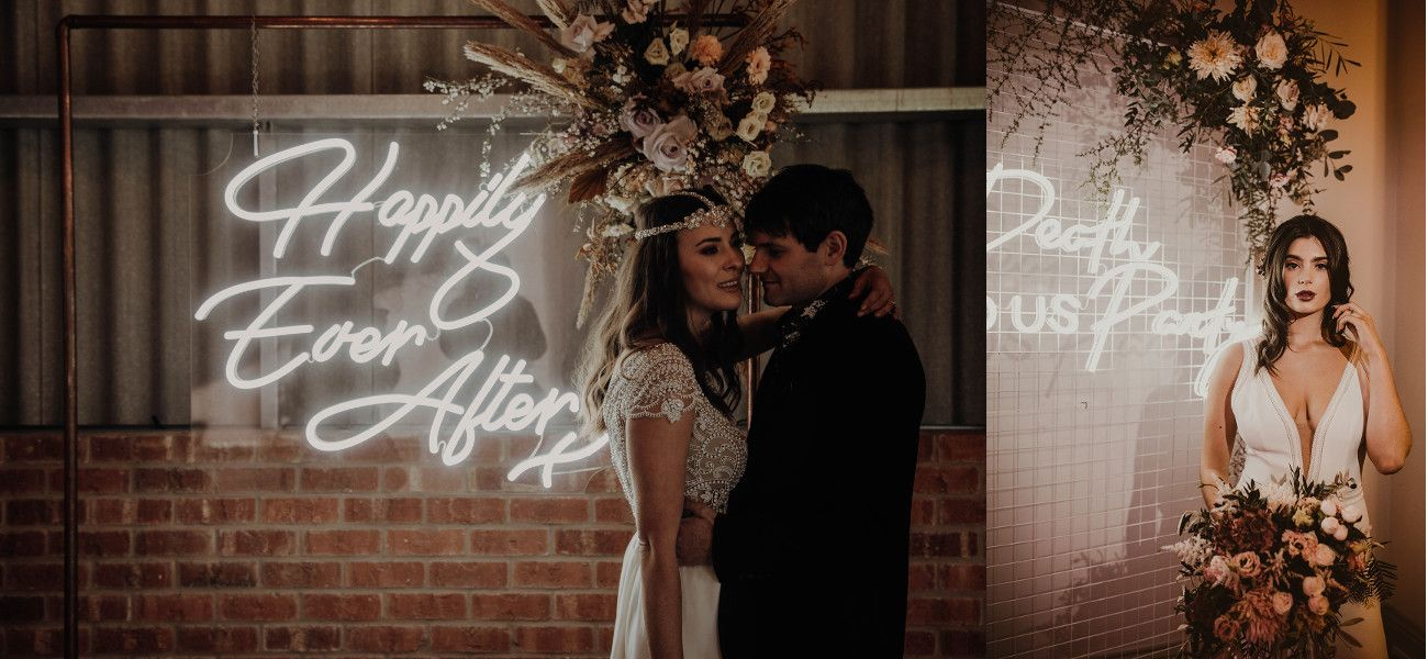6 Ways to Use Neon on Your Wedding Day Neon wedding