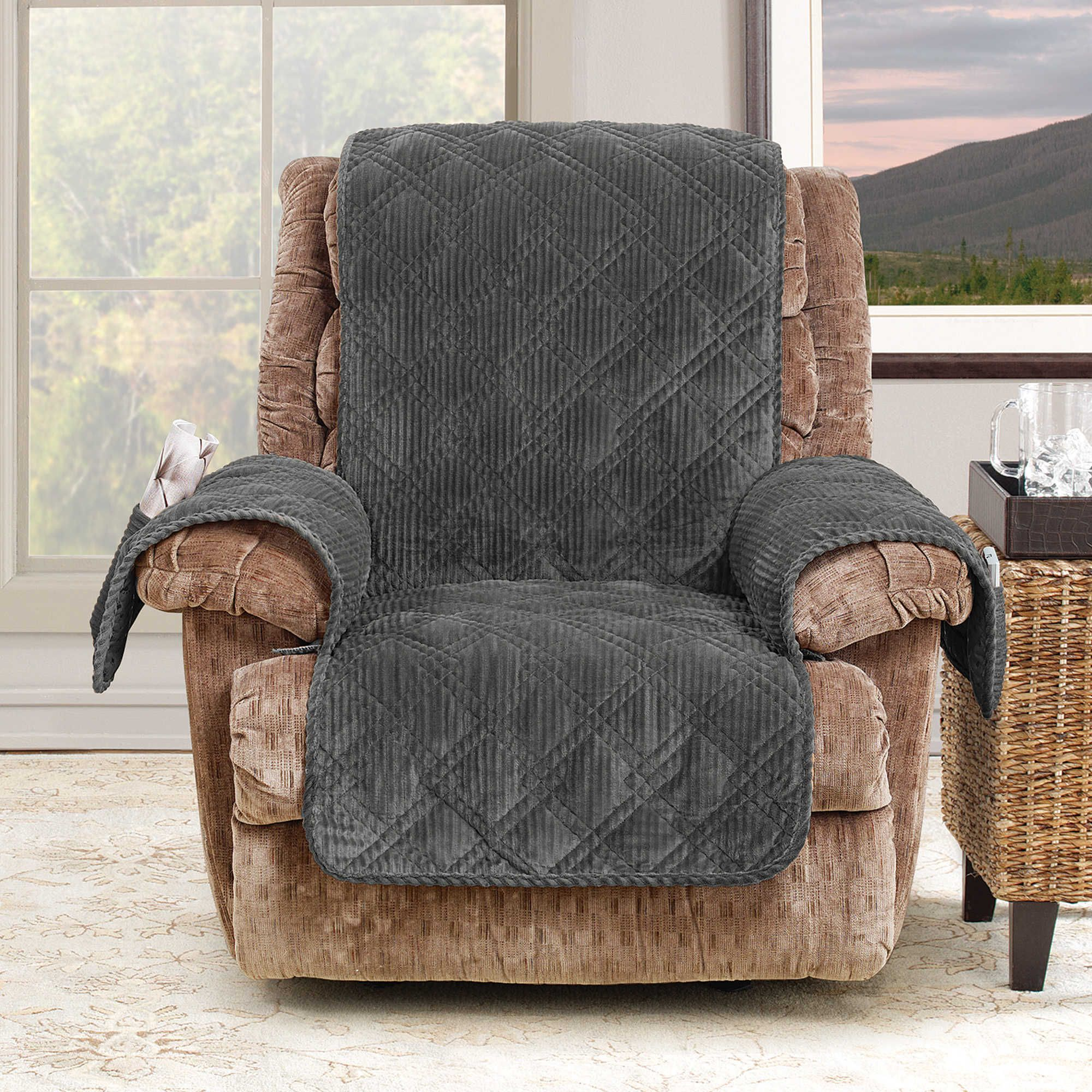 slipcovers fit by pin sure recliners cream recliner stretch slipcover plush for