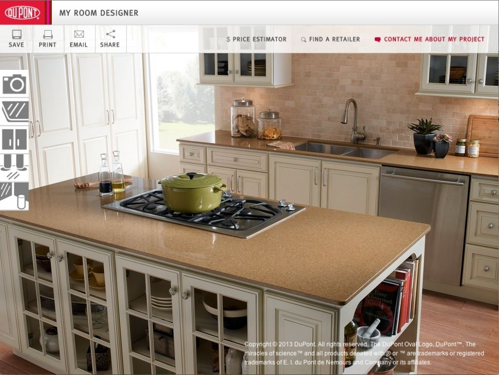 Home depot virtual kitchen design interactive kitchen for Kitchen countertop planner