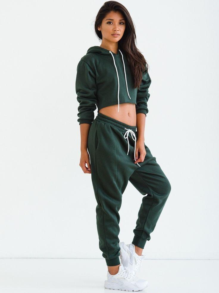 Sorella Donu0026#39;t Sweat it Sweatsuit - Green | u2662Fashionu2662 | Pinterest | Clothes Sweatpants outfit ...