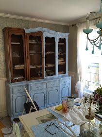 How to embellish your furniture with graphics using a transfer method.     The drawers on the cabinet have a french script.     We use t...