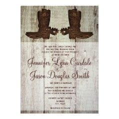 Cowboy Boots Country Western Wedding Invitations Country Style