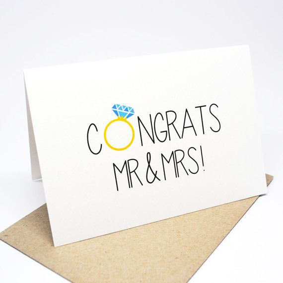 Mr and Mrs Wedding Card Blush Wedding Day Card Congratulations Card WED079 Wedding Card Mr and Mrs Card On Your Wedding Day Card
