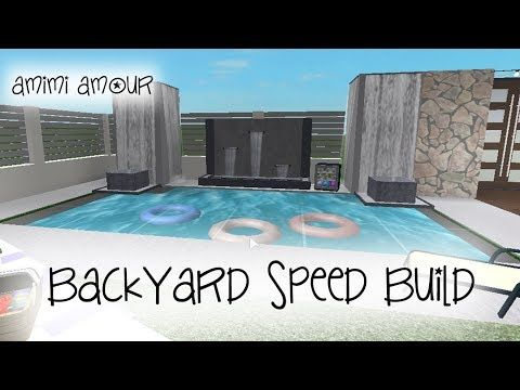 Welcome To Bloxburg Backyard Speed Build Youtube House Plans With Pictures House Layouts House Design Kitchen