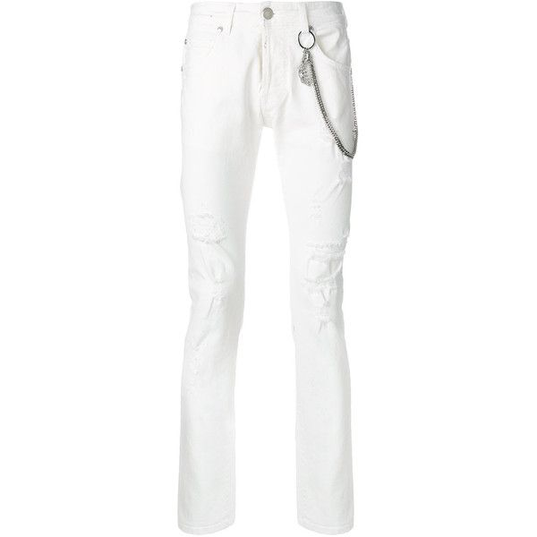 13906fcc55c Pierre Balmain Jeans ($490) ❤ liked on Polyvore featuring men's fashion,  men's clothing