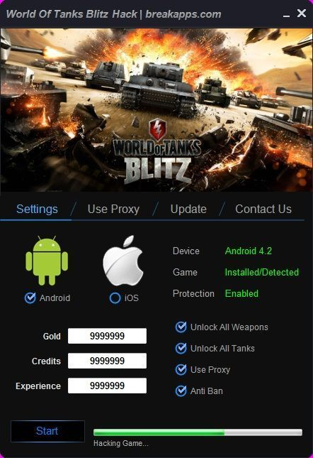 How To Hack World Of Tanks Blitz Tank Blitz Tool Hacks Ios Games