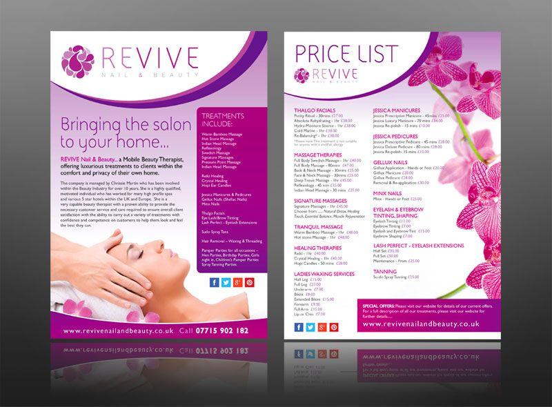Health Beauty Spa Salon Leaflet Design Creative Hotel