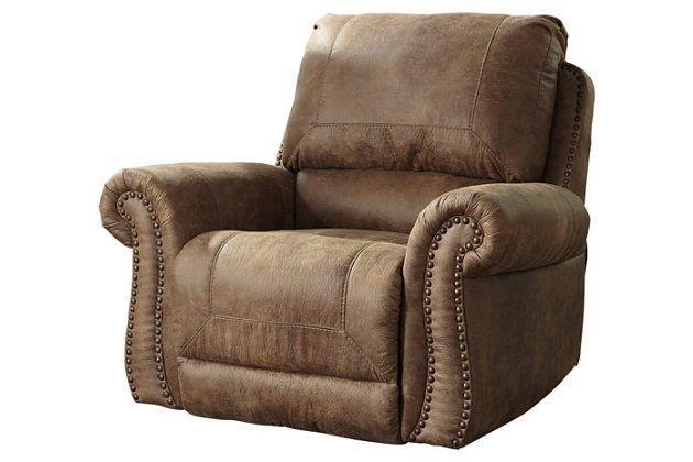 Jonas Brothers Texas Home Stunning Rustic Living Room: Earth Larkinhurst Recliner View 2