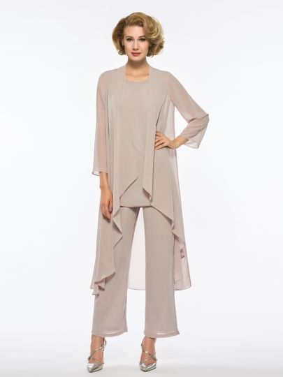 Loose Mother Of The Bride Jumpsuit With Long Sleeve Jacket Bride
