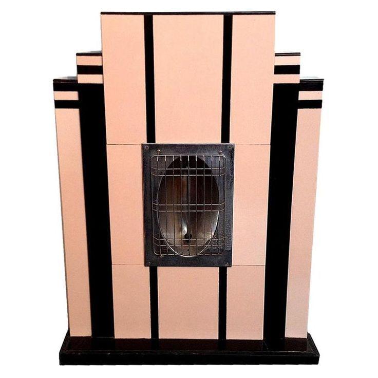 Art Deco Heater, Emulating a Fireplace, Miami, circa 1930