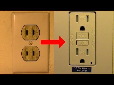 (160) Replace Your Old Two Prong Receptacle with a GFCI